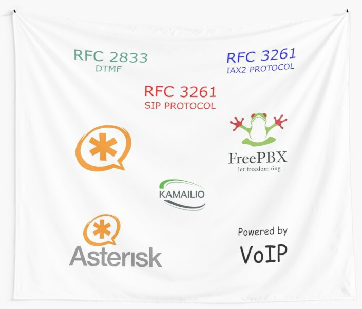 'VOIP SET' Wall Tapestry by yourgeekside