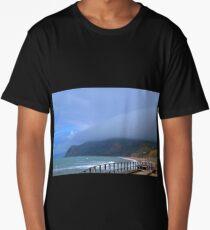 Sea Mist at West Bay, Dorset UK Long T-Shirt