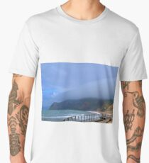 Sea Mist at West Bay, Dorset UK Men's Premium T-Shirt