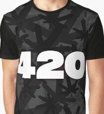 420 - Digital Ganja Man (Stealth Edition) Graphic T-Shirt
