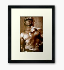 MILITARY / Soldier Framed Print