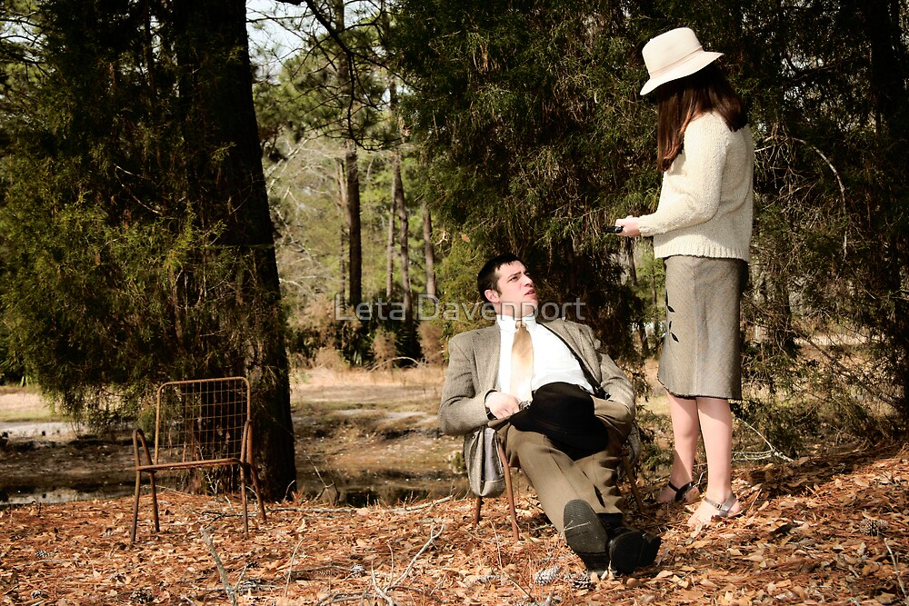 Bonnie and Clyde Shoot by Leta Davenport