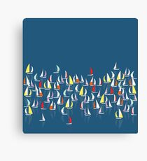 Race The Waves Canvas Print