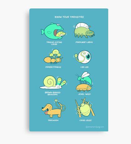 Know your parasites Canvas Print