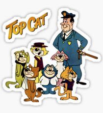 Top Cat, Vintage Retro Cartoon, summer  Sticker