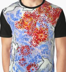 Floral Doves Graphic T-Shirt