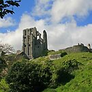 Ruins of Corfe Castle by RedHillDigital
