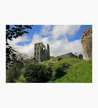 Ruins of Corfe Castle Photographic Print