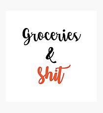 Groceries  Photographic Print