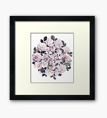 Beautiful Floral Theme - floral, flowers, flower, rose Framed Print