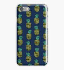 Pineapple stripes pattern by andrea lauren navy minimal fruit summer trendy print design iPhone Case/Skin