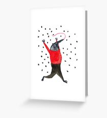 He Dreams of Ants Greeting Card