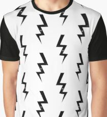 Bolts lightning bolt pattern black and white minimal cute patterned gifts by CharlotteWinter Graphic T-Shirt