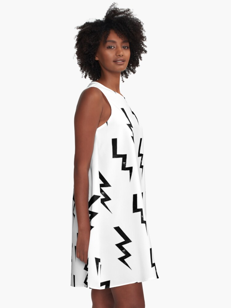 ebe7928348 Alternate view of Bolts lightning bolt pattern black and white minimal cute  patterned gifts by CharlotteWinter