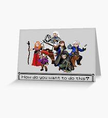 Vox Machina - Pixel Art Greeting Card