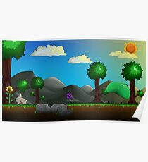 Terraria Sunny Day Illustration Poster