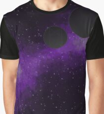 Looking Up at Two Moons Graphic T-Shirt