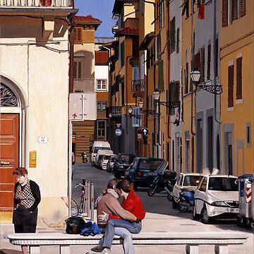 Lovers in Santa Croce by matteopaints
