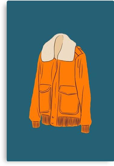 Orange Winter Jacket by Chee Sim
