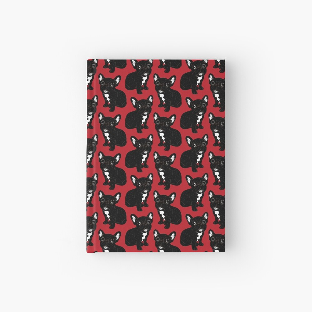 Cute Brindle Frenchie Puppy Hardcover Journal