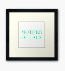 Lab Mother Framed Print