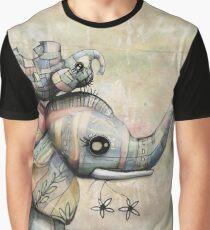 Upside Down Elephants Graphic T-Shirt