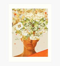 SuperFlowerHead Art Print