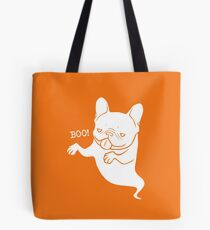 Frenchie Boo Boo Halloween Ghost Tote Bag