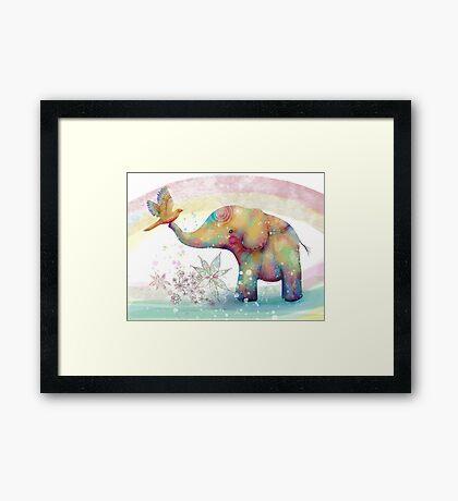 The Indigo Elephant Framed Print