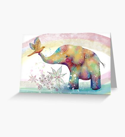 The Indigo Elephant Greeting Card