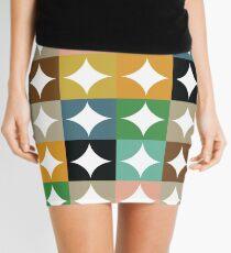 Retro Circles and Diamonds Mini Skirt