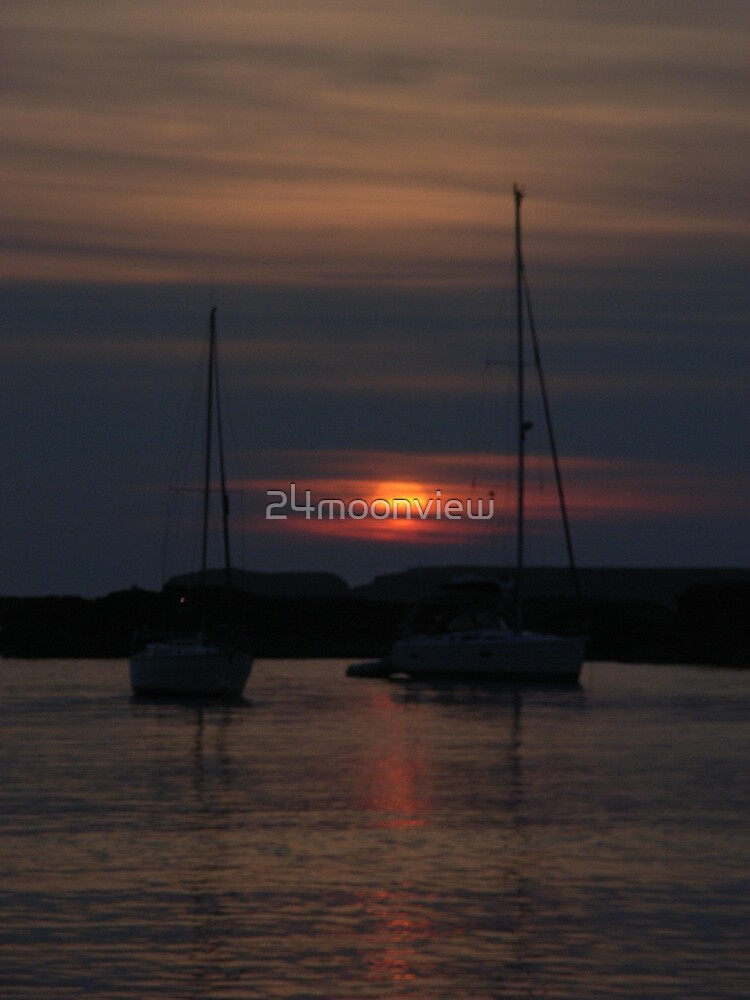 sun set by 24moonview