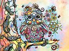 Rainbow of Peace Owl by Karin Taylor