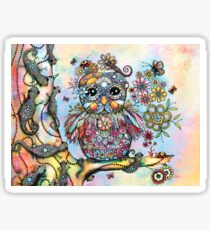 Rainbow of Peace Owl Sticker