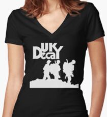 UK Decay T shirt  Women's Fitted V-Neck T-Shirt