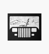 (White) Adventuring YJ Jeep Art Board