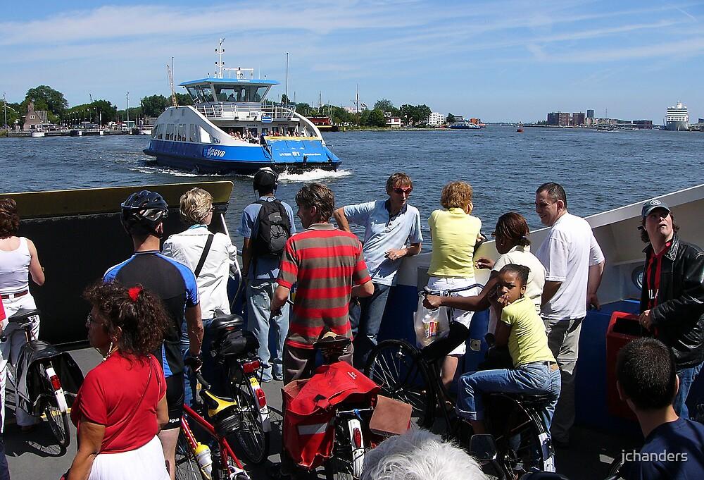 Amsterdam: Crossing the River IJ by jchanders