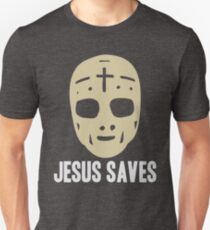 Jesus Saves - Ice Hockey Pun Unisex T-Shirt