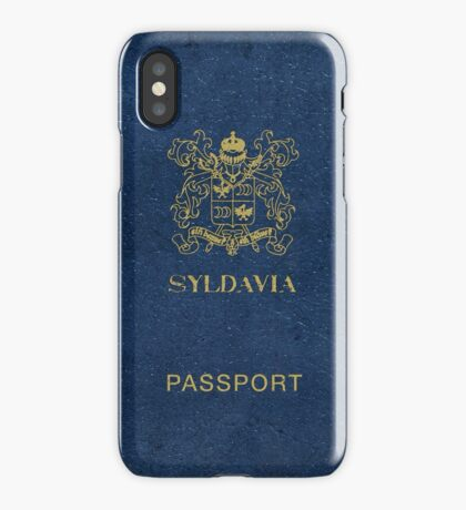 Syldavian Passport (iPhone case) iPhone Case/Skin