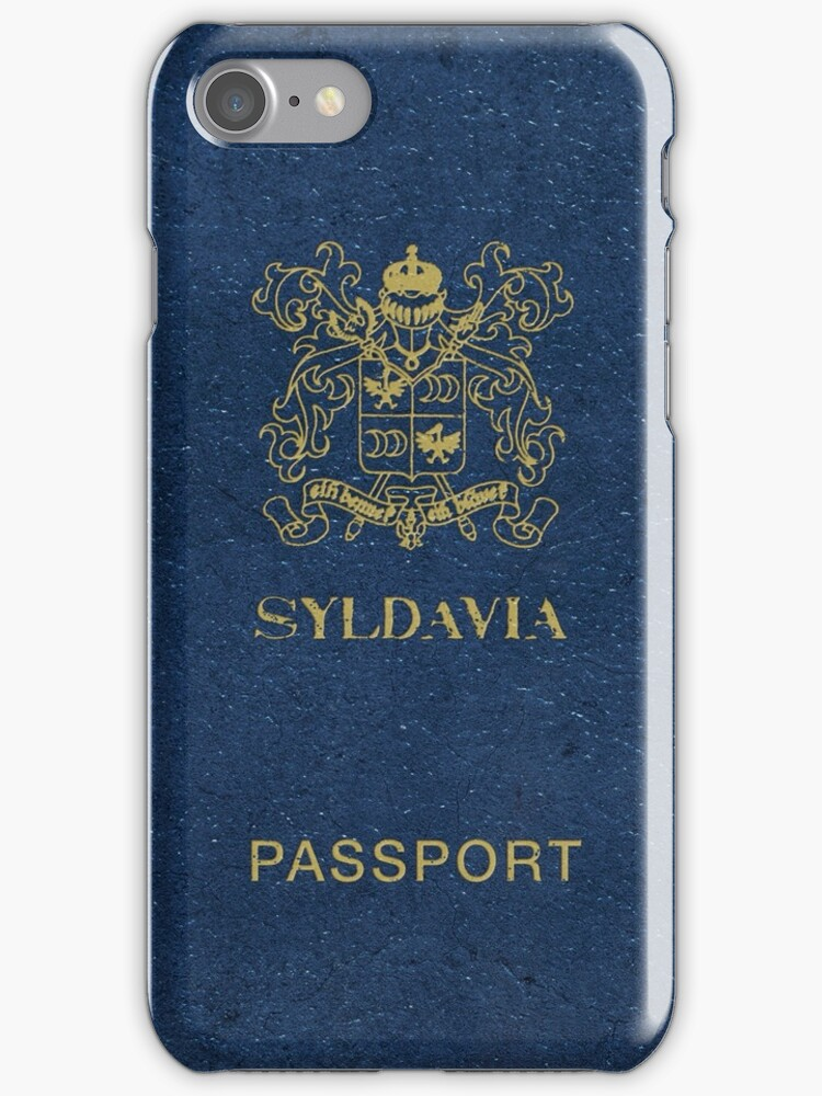 Syldavian Passport (iPhone case) by ikado