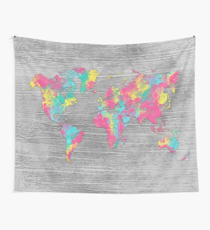 world map 80 colors Wall Tapestry