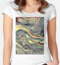Miscellaneous Marble Women's Fitted Scoop T-Shirt