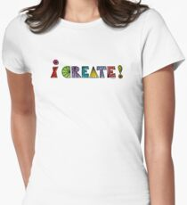i create with lines  Womens Fitted T-Shirt