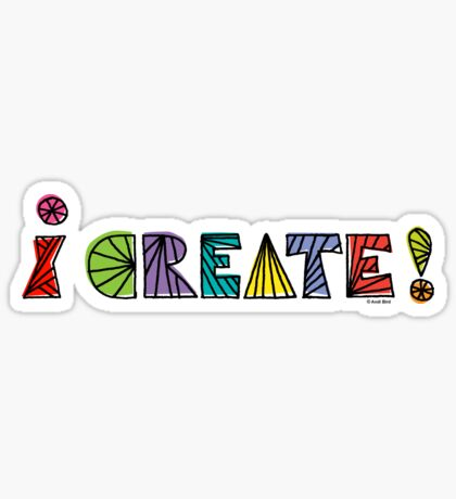 i create with lines  Sticker