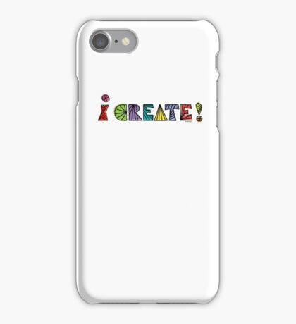 i create with lines  iPhone Case/Skin