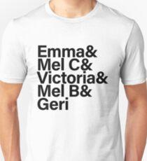 Spice Girls Names Tee (Black) Unisex T-Shirt