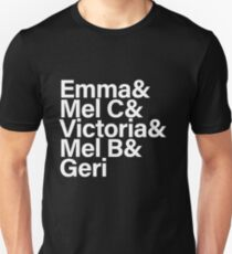 Spice Girls Names Tee (White) T-Shirt