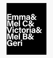 Spice Girls Names Tee (White) Photographic Print