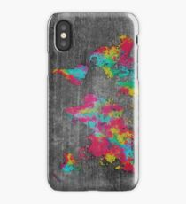 world map 81 dark color iPhone Case/Skin