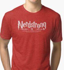Nerdstrong School of Fitness Wizardry Tri-blend T-Shirt